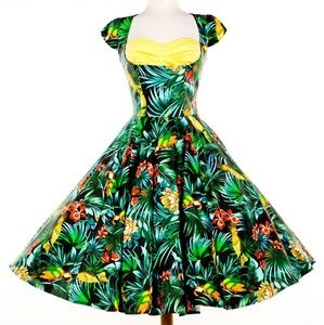 Pinup Couture Alfreda Parrot Dress SM